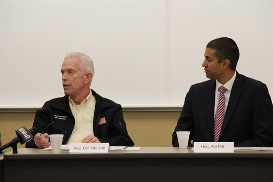 On January 22, FCC Chairman Ajit Pai traveled to Marietta to participate in a roundtable discussion with Rep. Johnson and local stakeholders. Chairman Pai talked at length about the new Rural Digital Opportunity Fund, which aims to close the urban-rural digital divide.