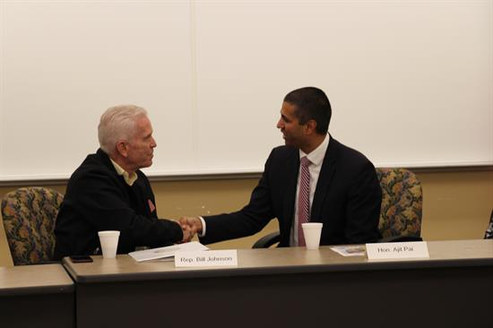 FCC Chairman Ajit Pai traveled to Marietta on January 22 to participate in a roundtable discussion with Rep. Johnson and local stakeholders at Washington State Community College.